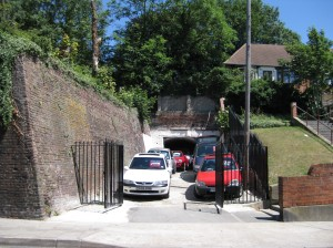 One of the access points to the vast tunnel system underneath the Medway Towns